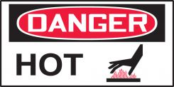 - OSHA Danger Safety Label: HOT (Symbol)