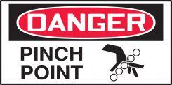 - OSHA Danger Equipment Safety Label: Pinch Point