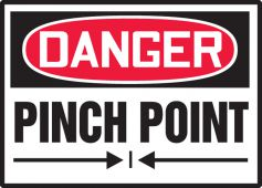 - OSHA Danger Safety Label: Pinch Point (With Graphic)
