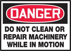 - Equipment Safety Labels