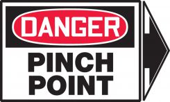 - OSHA Danger Safety Label: Pinch Point (Right Arrow)