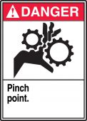 - ANSI Danger Safety Label: Pinch point.