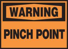 - OSHA Warning Safety Label: Pinch Point