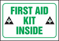 - Safety Label: First Aid Kit Inside