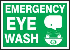 - Safety Label: Emergency Eye Wash