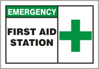 - Safety Label: Emergency First Aid Station