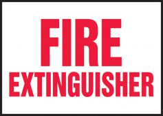 - Safety Labels: Fire Extinguisher