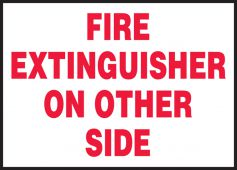 - Safety Label: Fire Extinguisher On Other Side