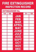 - Fire Safety Label: Fire Extinguisher Inspection Record