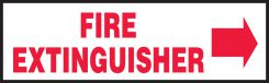 - Fire Safety Label: Fire Extinguisher (Right Arrow)