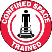 - Hard Hat Stickers: Confined Space Trained