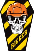 - Hard Hat Stickers: Rigger