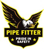 - Hard Hat Stickers: Pride Pipe Fitter Safety