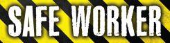 - Hard Hat Stickers: Safe Worker