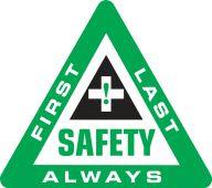 - Hard Hat Stickers: Safety First Last Always