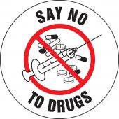 - Hard Hat Stickers: Say No To Drugs