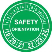 - Hard Hat Stickers: Safety Orientation (Numbering)
