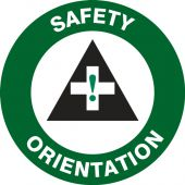- Hard Hat Stickers: Safety Orientation (Symbol)