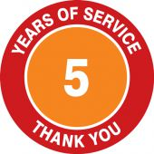 - Hard Hat Stickers: Years Of Service - Thank You