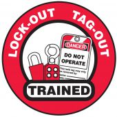 - Hard Hat Stickers: LOTO Trained