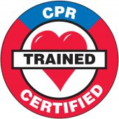 - Hard Hat Stickers: CPR Certified