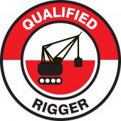 - Hard Hat Stickers: Qualified Rigger
