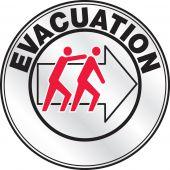 evacuation - Emergency Response Reflective Helmet Sticker: Evacuation