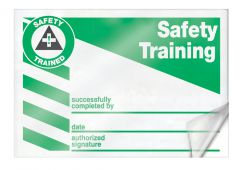 - Safety Label: Safety Training - Successfully Completed By - Date - Authorized Signature