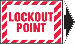 - Magnetic Lockout/Tagout Label: Lockout Point (With Arrow)
