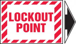 - Lockout/Tagout Label: Lockout Point (With Arrow)