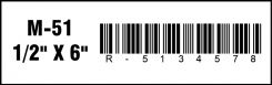 - Magnetic Label Holder: 6 Inch