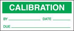 - Production Control Labels: Calibration