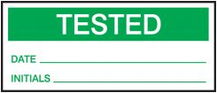 - Production Control Labels: Tested