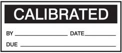- Production Control Labels: Calibrated