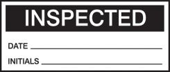 - Production Control Labels: Inspected