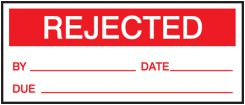 - Production Control Labels: Rejected