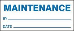 - Production Control Labels: Maintenance