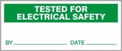 - Production Control Labels: Tested For Electrical Safety