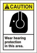 - ANSI Caution Safety Label: Wear Hearing Protection in this Area