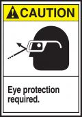 - ANSI Caution Safety Label: Eye Protection Required
