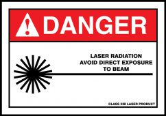 - ANSI Danger Safety Label: Laser Radiation - Avoid Direct Exposure To Beam