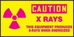 - OSHA Caution Safety Label: X Rays - This Equipment Produces X-Rays When Energized