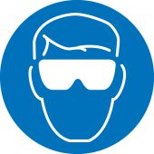 - ISO Safety Label: Protective Eyewear Graphic