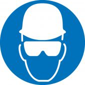 - ISO Safety Label: (Wear Head And Eye Protection) 2003/2011