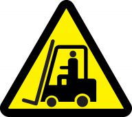 - ISO Warning Safety Label: Lift Truck Hazard - 2003