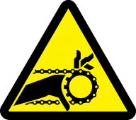 - ISO Warning Safety Label: Chain Drive Entanglement Hazard - 2003/2011