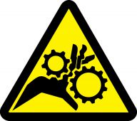 - ISO Warning Safety Label: Gear Entanglement Hazard - 2003/2011