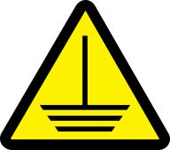 - ISO Warning Safety Label: Electric Ground Hazard - 2003/2011