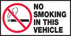 - Safety Label: No Smoking In This Vehicle