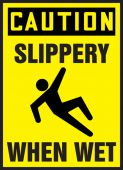 - OSHA Caution Safety Label: Slippery When Wet